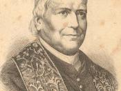 Copyright expired drawing of Pius IX in 1870