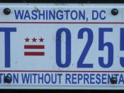 English: US Registration plate as seen in 2008 in Washington D.C.