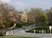 View looking east towards Roberts Hall.