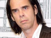 English: Nick Cave at the Union Square Barnes & Noble to read from his new book, The Death of Bunny Munro. Photographer's blog post about the photo and event.