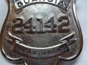 Puerto Rico Police Department officer badge.