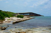 This is a HDR imaging of a bridge in the Florida Keys. It is based on three exposures.