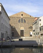 English: San Lorenzo, Venice: facade Français : Église San Lorenzo à Venise : vue de la façade Italiano: Chiesa di San Lorenzo a Venezia : facciata