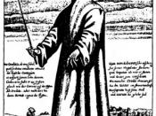 English: An illustration of an undertaker during the Bubonic plague.