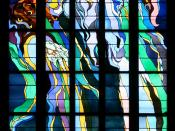 English: Stained glass window made by Stanisław Wyspiański (1869–1907) in church of St. Francis in Kraków (Poland). Français :