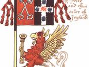 English: Banner of the arms of Cardinal Thomas Wolsey