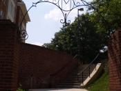 English: An arched gateway on the campus of University of Maryland, College Park.
