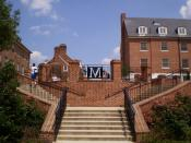 English: Stairway on the campus of the University of Maryland, College Park.