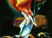 The Resurrection from Grünewald's Isenheim Altarpiece was a direct influence on Three Studies.