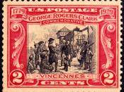 English: Postage stamp commemorating George Rogers Clarl, 1929 Issue, 2c