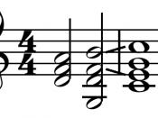 English: Chord progressions. Français : Progression d'accords.