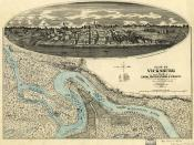 View of Vicksburg vicinity and fortifications, 1863.