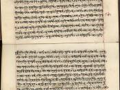 The Rig Veda is one of the oldest religious texts. This Rig Veda manuscript is in Devanagari