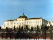 Seat of the Supreme Soviet of the USSR, the Grand Kremlin Palace in the Moscow Kremlin, February 1982