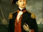 John Paul Jones, the Continental Navy's first seaman to be appointed the rank of 1st Lieutenant. Oil painting by George Bagby Matthews, c. 1890.