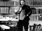 Rudyard Kipling in his study, about this year