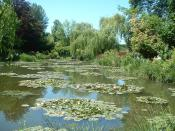 Nympheas in the Claude Monet's garden in Giverny
