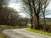 English: The Carneal Road near Carrickfergus The Carneal Road runs off the Lough Mourne Road to the west of Lough Mourne 270844.