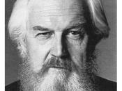 Canadian writer Robertson Davies, author of The Deptford Trilogy which included the famous book, Fifth Business.