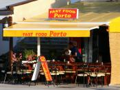 English: Fast food restaurant in the port of Malinska Deutsch: Fast Food Restaurant im Hafen von Malinska