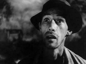 Trailer for the 1940 black and white film The Grapes of Wrath. John Carradine as Jim Casy, former preacher.