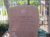English: El Camino Real monument in Natchitoches, LA