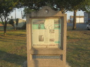 English: I took photo of Old San Antonio Road marker in Cotulla, TX, with Canon camera.