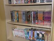 étagère de dvd...
