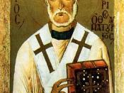 ru: Gregory Thaumaturgus. Святитель Григорий Чудотворец, икона XIV века