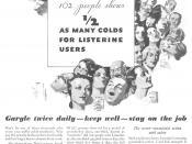 Listerine advertisement, 1932