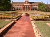 Edmon Low Library at Oklahoma State University - Stillwater, the focal point of the campus. Photo taken April 22, 2006.