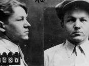 English: Lester Gillis's mugshot (1931).