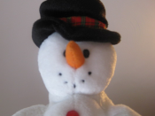 English: A picture of a stuffed snowman I took.
