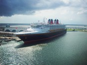 English: Disney Cruise Lines' Disney Wonder in Port Canaveral