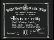 British Board of Film Censors certificate