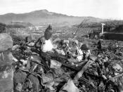 Nagasaki, Japan. September 24, 1945, 6 weeks after the atomic bomb attack on that city, the second atomic blast in history.