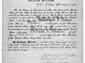 English: A certificate for the electoral vote for Rutherford B. Hayes and William A. Wheeler for the State of Louisiana dated 1876 part 6