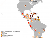 English: Ethnic composition of the Americas according to Lizcano and the CIA World Factbook.