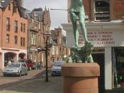 Statue of Peter Pan in Kirriemuir.