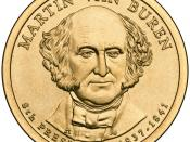 English: Presidential $1 Coin Program coin for Martin Van Buren. Obverse.