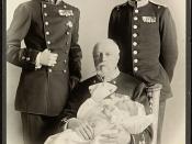 Portrett av Kong Oscar II, Gustav V, Gustav VI og Gustav Adolf, 1906