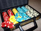 English: A set of poker chips with denominations 100, 50, 25 & 10. These are my chips and I photographed them. Category:Game tokens