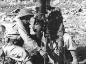 Zionist mortar team outside Zafzaf