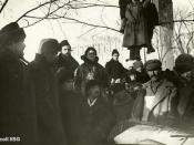 English: Speakers at Kropotkin funeral: Emma Goldman, Alexander Berkman and G.P. Maximov
