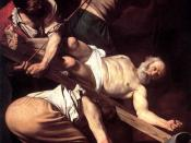 Crucifixion of St. Peter by Caravaggio. The early Christians were persecuted by the Roman Empire