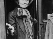 English: Emmeline Pankhurst, British suffragist
