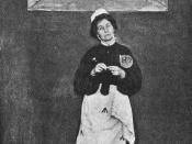 English: Emmeline Pankhurst in prison dress
