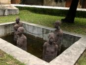 English: A slave auction was held near this location in Zanzibar for many years. This is an image of a sculpture, Memory for the Slaves by Clara Sörnäs, concrete, 1998. See here for more details.