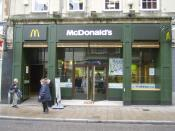 A McDonald's restaurant in Exeter, Devon. This was taken shortly after a redesign of this and other McDonald's restaurants around the world, an older image of the same restaurant can be seen at Image:McDonald's in Exeter.jpg.