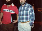 Rob Reiner (right) outside Spago